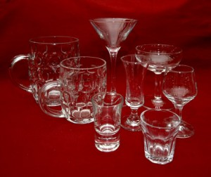 Glassware to hire