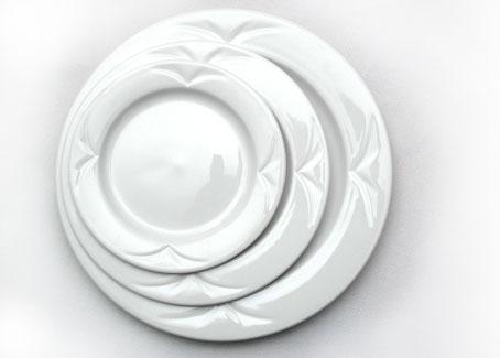 Plain white plates